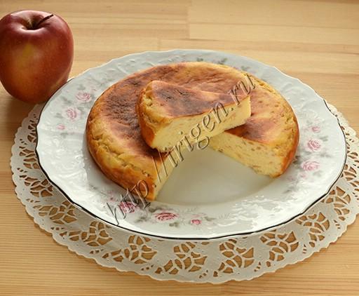 творожная запеканка с яблоками в мультиварке