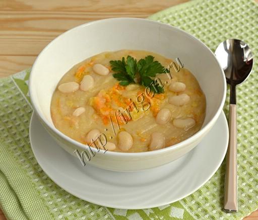 суп-пюре фасолевый постный