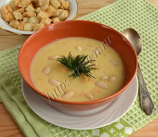 суп-пюре фасолевый со сливками