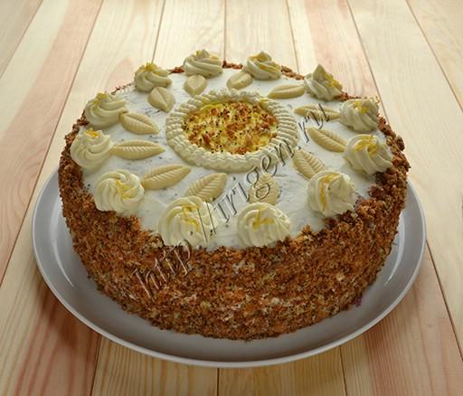 торт маковый цитрон