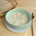 сырный суп с индейкой и овощами