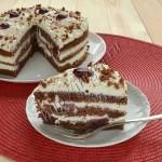 торт какао с вишней