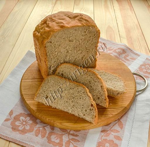 хлеб с мукой грубого помола в хлебопечке
