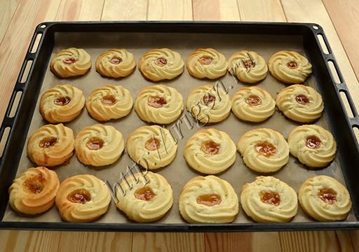 печенье курабье после выпечки