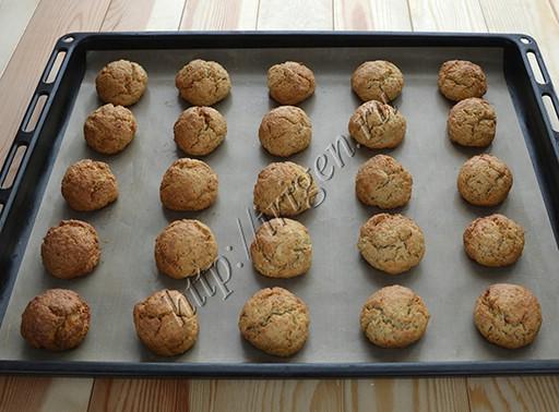 овсяное печенье после выпечки