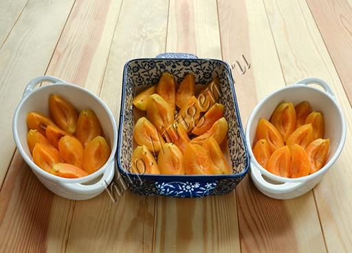 абрикосы в формочках