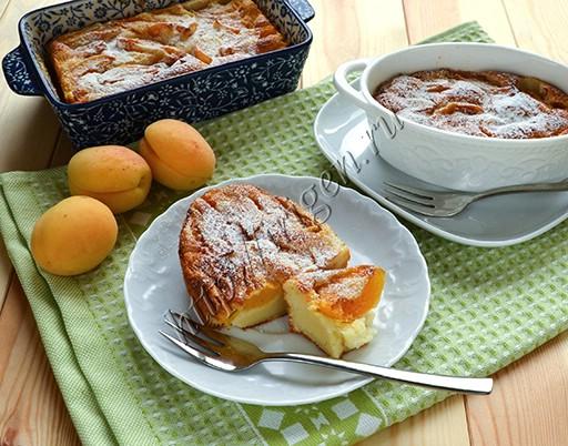 клафути на сметане с абрикосами