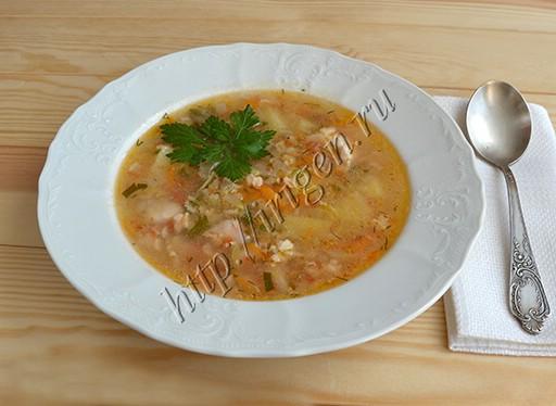 суп куриный с кабачком и геркулесом