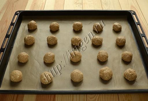 Печенье овсяное перед выпечкой
