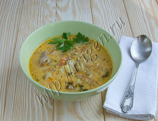 суп с баклажаном и сметаной