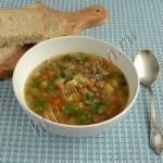 суп с баклажаном и фаршем