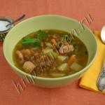 суп чечевичный с индейкой в мультиварке