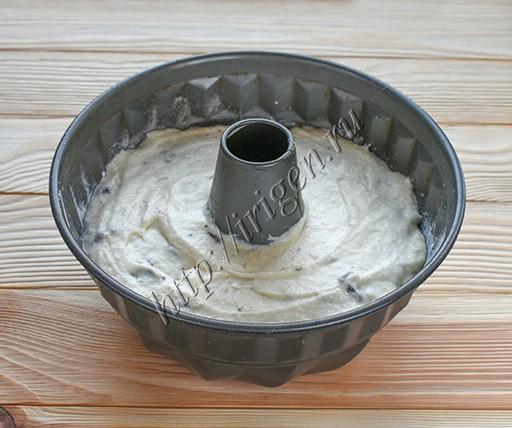 кекс перед выпечкой