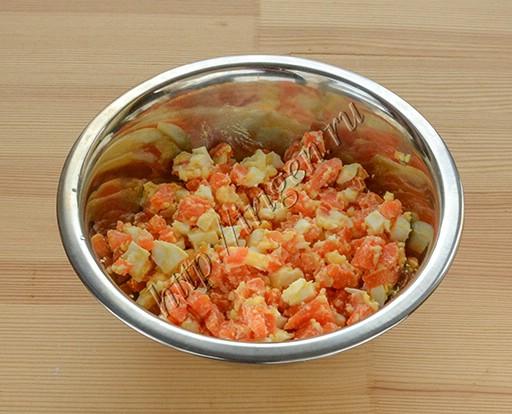 начинка из моркови с яйцом