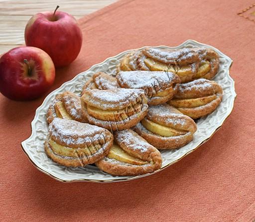 печенье яблочные дольки