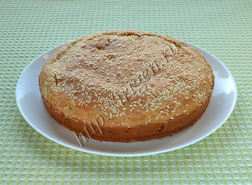 наливной пирог с капустой и мясом