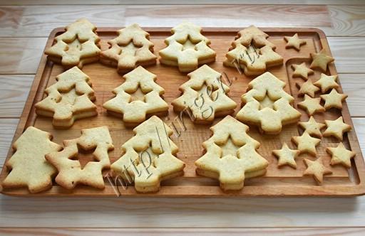 приготовление печенья новогодние елочки
