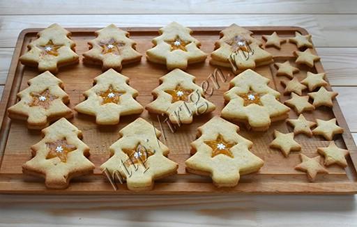 печенье новогодние ёлочки