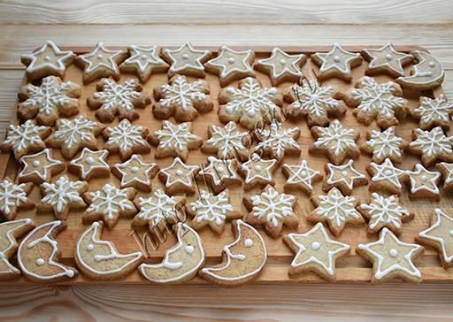 печенье ореховое с глазурью