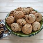 печенье на сметане с шоколадом и орехами