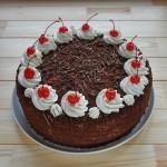 торт черный лес с вишней