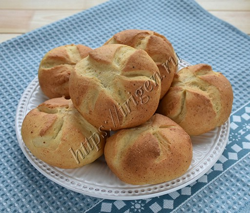 булочки творожные хлебные