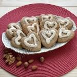 печенье ореховые сердечки