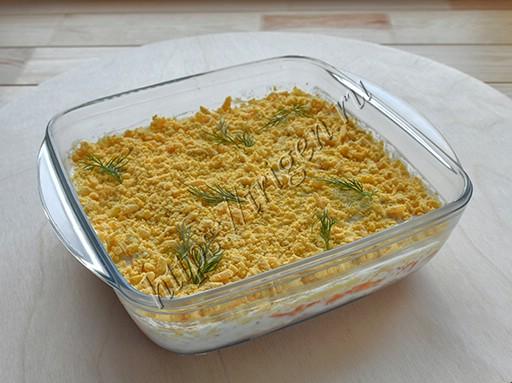 салат нежная мимоза с тунцом