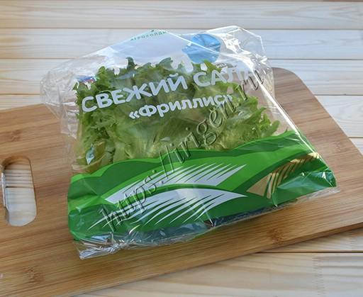 салат в упаковке