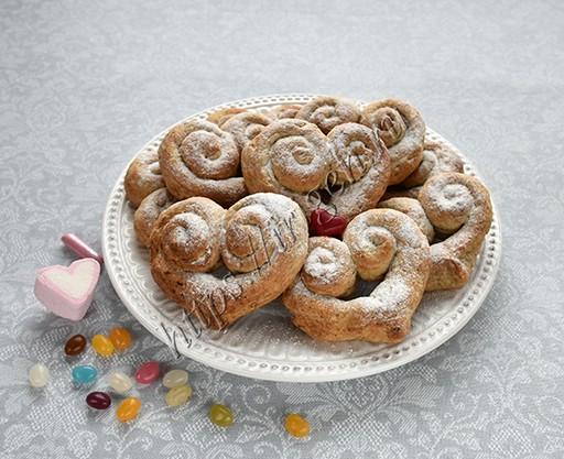 творожно-ореховые сердечки