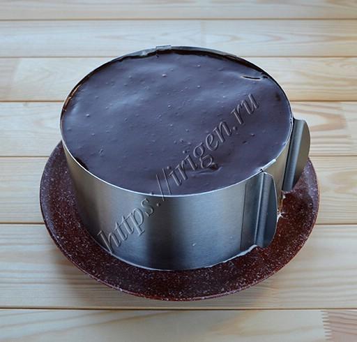 торт блинный шоколадный в кольце