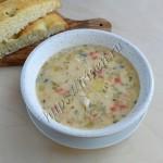 сырный суп с индейкой и чечевицей