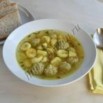 суп с фрикадельками и заварными клецками