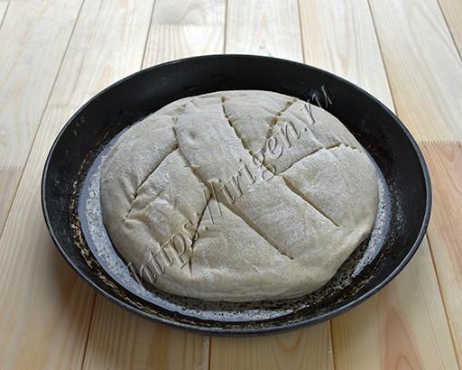 хлеб перед выпечкой