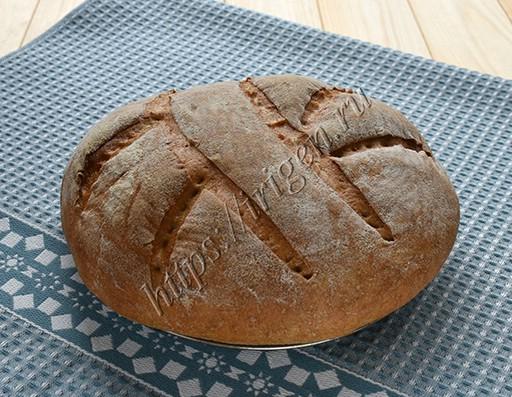хлеб домашний после выпечки