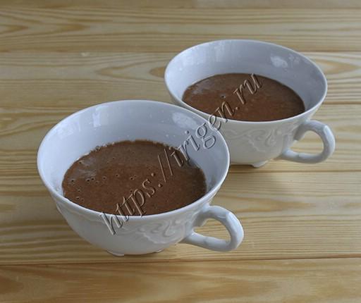приготовление кекса в чашке
