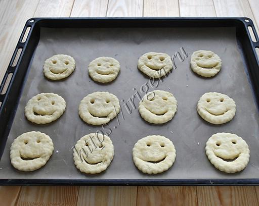 приготовление печенья смайлики