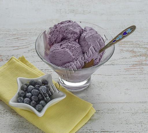 мороженое черничное