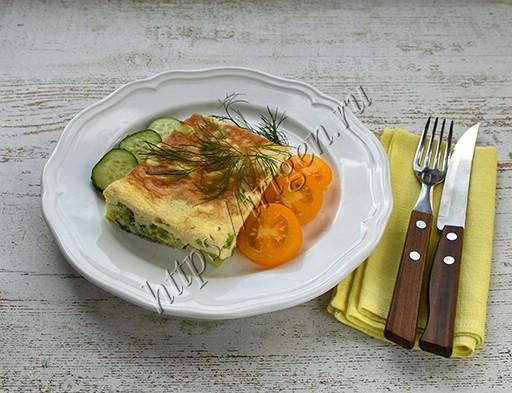 омлет с брокколи в мультиварке