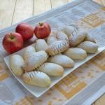 печенье яблочные рулетики