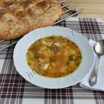 Суп с индейкой и оливками