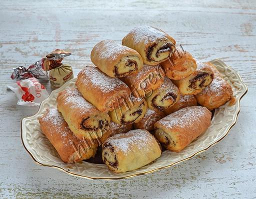 печенье творожные трубочки
