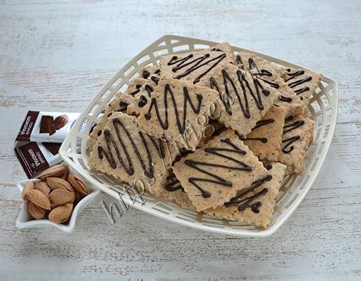 печенье легкое на белках с орехами и шоколадом