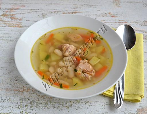 суп с тунцом и фасолью