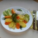 овощи на пару с яйцом пашот