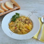 рис с индейкой и овощами