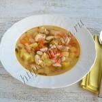 суп с индейкой и фасолью