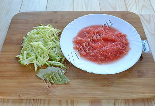 кабачок и помидор