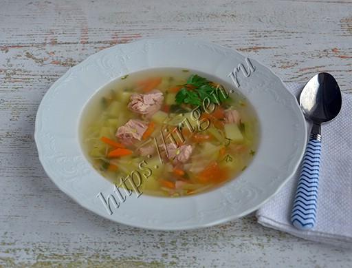 суп с тунцом и кабачком