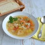суп куриный с рисом и кабачком